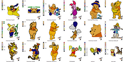 Whinnie The Pooh And Friends Over 350 Embroidery Pattern Designs - Pes On Cd
