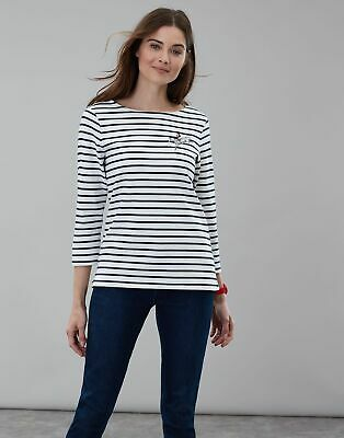 Joules Women Official Burghley Horse Trials   Embroidered Jersey Top Shirt -