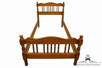 High End Colonial Style Maple Twin Size Spindle Bed