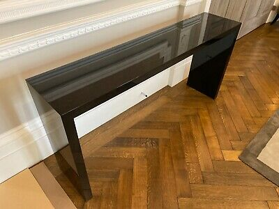 Polished Black Solid Wood Side Table *excellent condition*