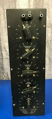 VINTAGE 1930'S GENERAL RADIO COMPANY Type 602-M Decade Resistance Box