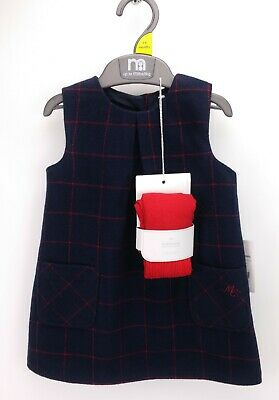 Baby Girls MOTHERCARE Heritage Pinafore Dress & Tights 3-6 Months BNWT