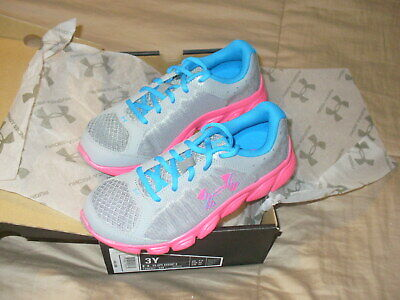 Under Armour Girls GPS Assert 6 Shoe (1266321-036) Size 3 Youth Pink/Blue NWB