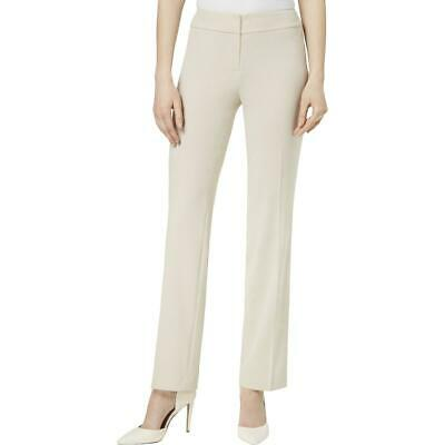 Nine West Womens Tan Straight Leg Office Wear Khaki Pants Trousers 8 BHFO 6444