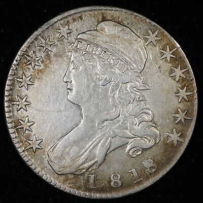 1818/7 Capped Bust Half Dollar Small 8
