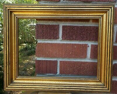 Vintage Arts & CRAFTS  Art Deco Gilt GOLD Ribbed Coved FRAME  8 3/4 x 12 c1930s