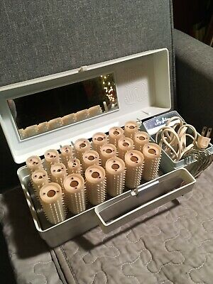 Vintage LADY SUNBEAM Hot Electric Rollers & Clips Model # HC-20