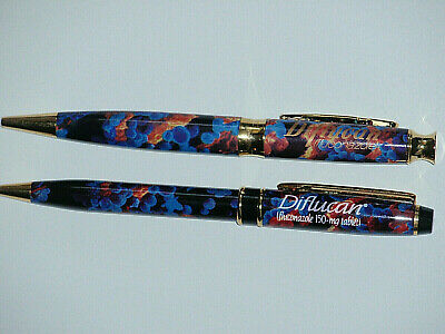2 DIFF Absolutely Georgeous HEAVY METAL PENS COLORFUL, Diflucan gold trim,tested