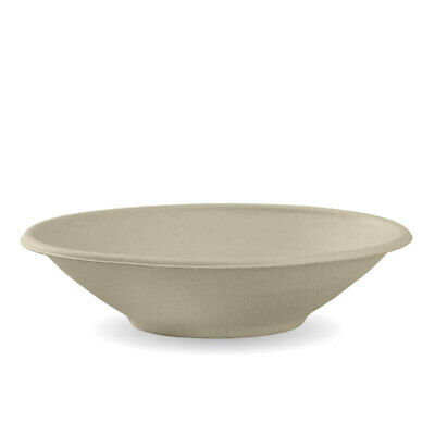 400x Sugarcane Bowl 24oz / 750ml Natural Eco Friendly Takeaway Bowls Cafe Bistro