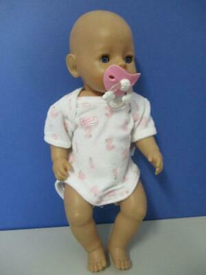 BABY BORN Interactive PRINCESS DOLL ZAPF CREATION Blue Eyes 42cm Bathable VGC