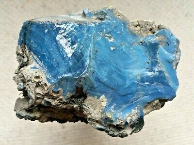 Blue Iron Ore Slag Glass (#27)