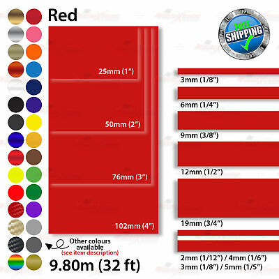 2mm-100mm PinStriping Pin Stripe Tape Car Styling Line Decal Vinyl Stickers RED