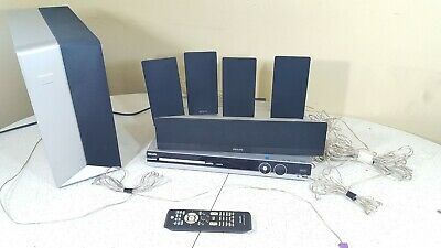 Phillips HTS3544 DVD Player Home Theater Surround Sound Receiver/Speakers Remote