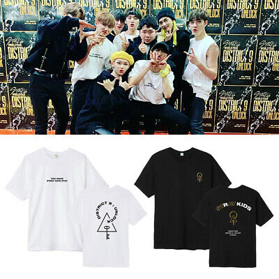 Kpop Stray Kids World Tour District 9 Unlock Double Knot T-shirt Casual Tee New
