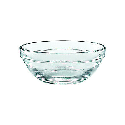 6x Glass Bowl 105mm 200ml Duralex Lys Toughened Glass Stackable Condiment SMALL