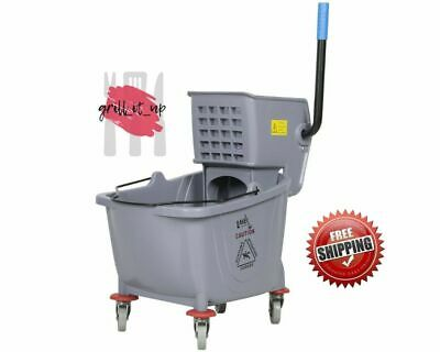 Industrial Lavex Janitorial Grey 36 Quart Mop Bucket & Wringer Combo Gray Color