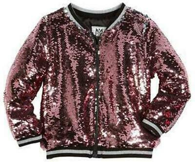 Milly Mini Kids Girls Sequin Bomber Jacket 6 Years