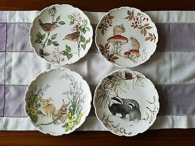 4 Teller Royal Albert The country walk Collection England Porzellan Natur