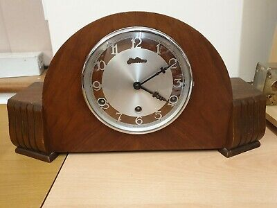 8 Day Westminster Chime Mantel Clock  C1960 by Bentima