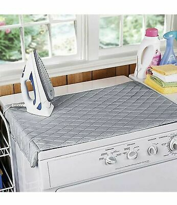 Easy Ironing Board Mat Iron Anywhere Cover Premium Table Top Quilted Magnetic
