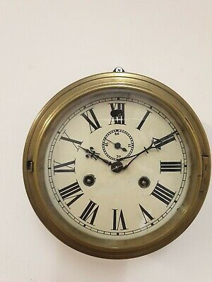 Antique  Ships Clock  By Newhaven USA Early C20th
