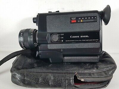 Canon 310XL Super 8 Movie Camera & Case - Tested & Fully Working