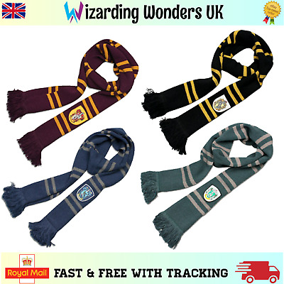 Harry Potter Scarf Luxury Gryffindor Slytherin Ravenclaw Hufflepuff Cosplay Gift