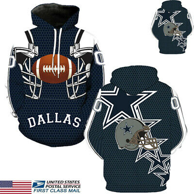 US STOCK Dallas Cowboys Sport Hoodie Sweatshirt Jumper Jacket Hooded Coat Tops