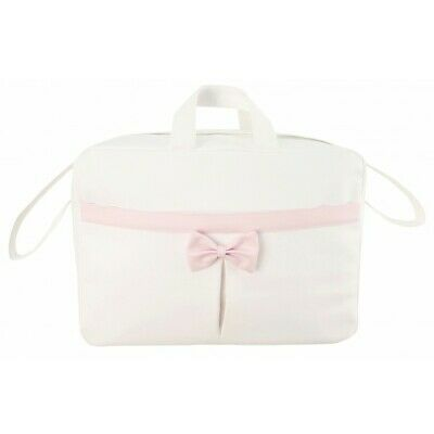 Spanish Baby Changing Bag//Rucksack with Bow /& Front Pocket Design by Modin
