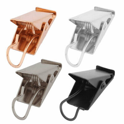 Restaurant Metal Spring Loaded Sawtooth Curtain Hanging Hook Clip Clamp 30 Pcs