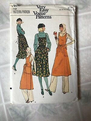 1970's VTG VOGUE Misses'  Jumper  Pattern 9556 Size Large UNCUT