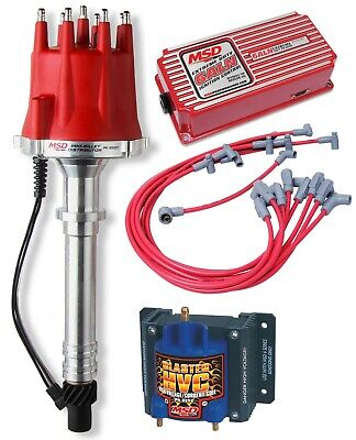 Msd Circle Track Racing Ignition Kit,6Aln Box,Spark Plug Wires,Distributor,Coil