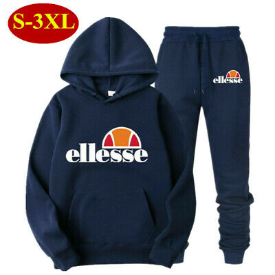 Jogging Hoodie Sweat Pants Ellesse Men Women Tracksuits Set Gym Tops Bottoms