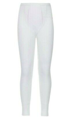John Lewis & Partners Boy Thermal Long Johns / White 3-4 Years New With Defect