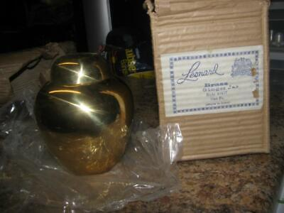 """Leonard Brass Ginger Jar Made in India Style 44437 - 5""""x4""""- Made in India"""