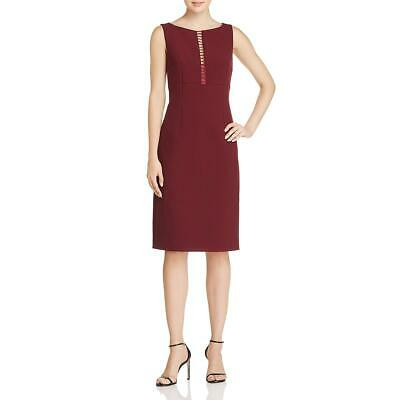 Elie Tahari Womens Doreen Red Sleeveless Crepe Party Cocktail Dress 14 BHFO 1146