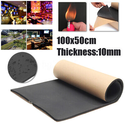 10mm Thick Closed Cell Foam Self Adhesive  Acoustic Thermal Insulation Home Car