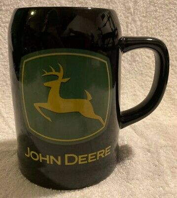 John Deere Stein Mug Coffee Cup Large Black