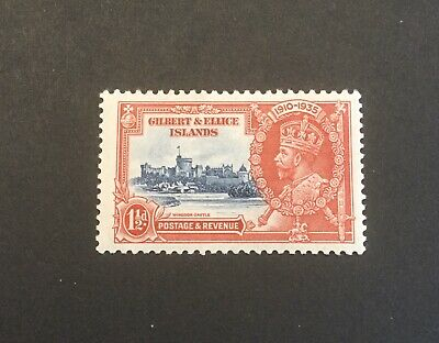 Gilbert & Ellice Islands 1935 KGV  1,1/2d red & blue MH