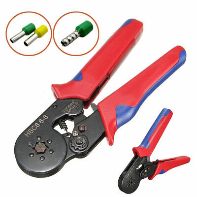 Ratchet Cable Crimper Electrical Insulated Ferrule Wire Plier Crimping Tool