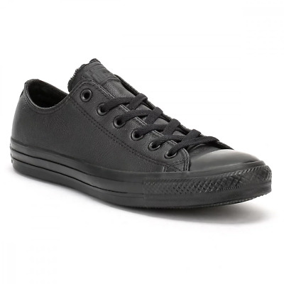 Converse Chuck Taylor All Star Lo Mono OX Hi Tops Trainers Unisex Leather Black