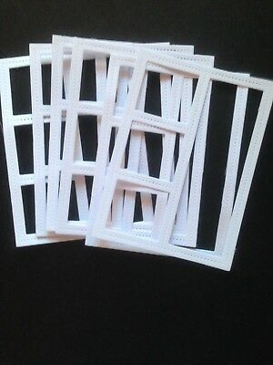 6 White Open Frames Diecuts - Great for Cardmaking and Scrapbooking