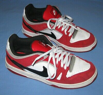 Kids NIKE Retro Leather Red/White/Black Runners Sz US 5Y Youth (womens 6.5) VGC
