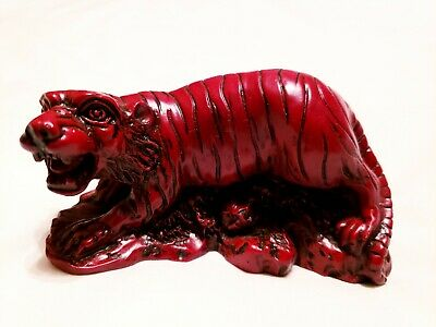 Red Tiger figurines Chinese Zodiac heavy Resin Status