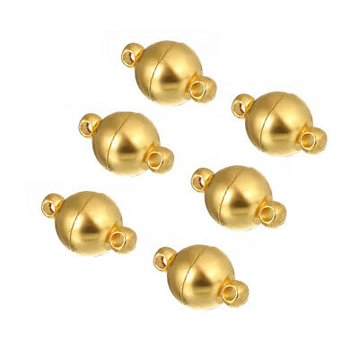 10pcs Ball Shape Magnetic Clasps Bracelet Necklace End Connector Jewelry Making