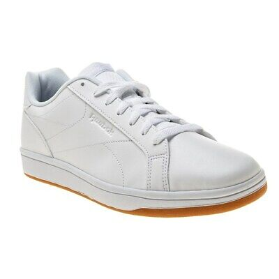 New Mens Reebok White Royal Complete Clean Synthetic Trainers Court Lace Up