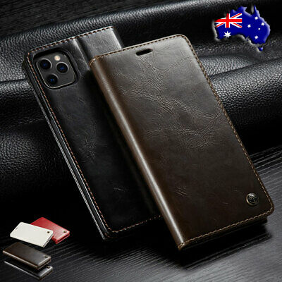 Fr iPhone 11 Pro Max Xr 8 7 6S Leather Case Magnetic Flip Wallet Card Cover