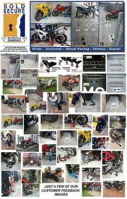 GENUINE Y-max90 - INSURANCE DISCOUNTS! MOTORCYCLE SECURITY ANCHOR,16-19mm Chains