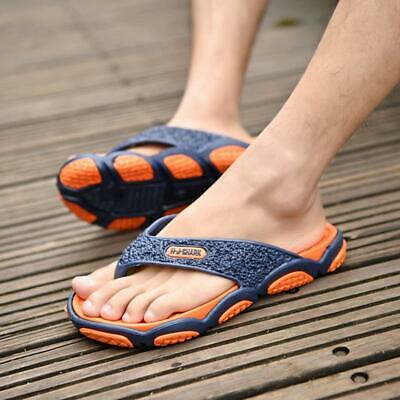 Summer Soft Casual Men's Flat Wedge Sandals Thong Flip Flops Slippers Beach 6N