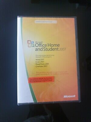 Genuine Microsoft Office 2007 Home and Student Edition ( New Factory Sealed )